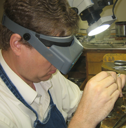 Wrights Jewelers on site jewelry designing and finishing.